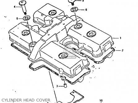 Suzuki Gsxr400 1987 h General Export e01 Cylinder Head Cover