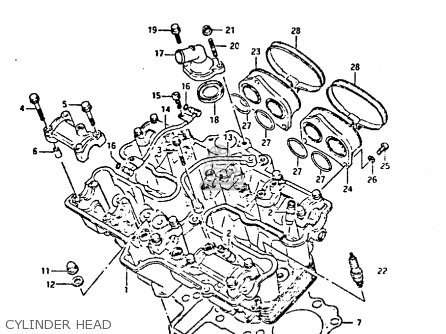 Suzuki Gsxr400 1987 h General Export e01 Cylinder Head