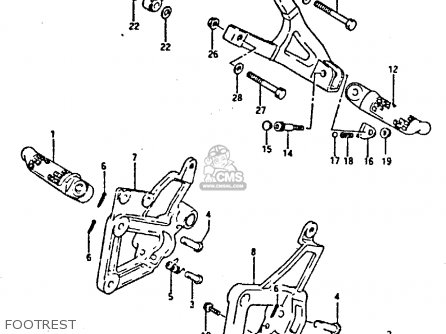 Suzuki Gsxr400 1987 h General Export e01 Footrest