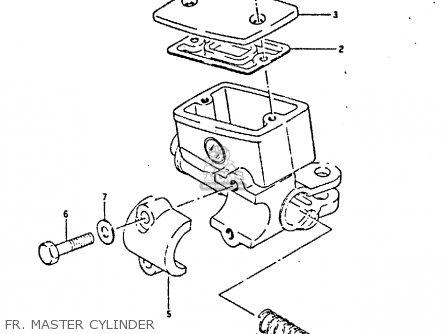 Suzuki Gsxr400 1987 h General Export e01 Fr  Master Cylinder