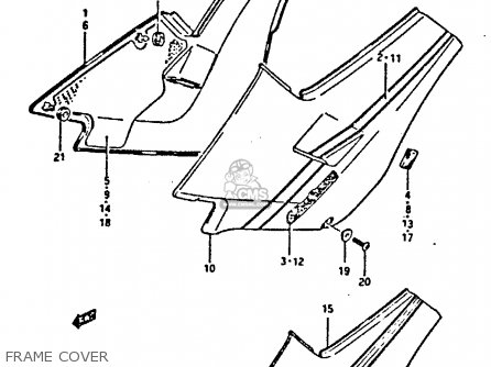 Suzuki Gsxr400 1987 h General Export e01 Frame Cover