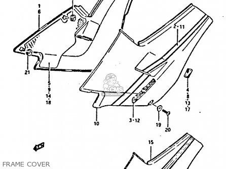 Suzuki Gsxr400 1987 h General Export e01 Frame Cover