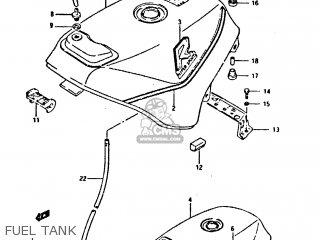 Suzuki Gsxr400 1987 h General Export e01 Fuel Tank