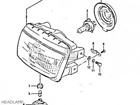 Suzuki Gsxr400 1987 h General Export e01 Headlamp