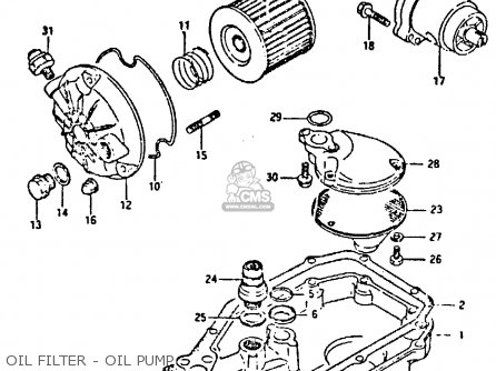 Suzuki Gsxr400 1987 h General Export e01 Oil Filter - Oil Pump