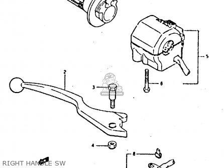 Suzuki Gsxr400 1987 h General Export e01 Right Handle Sw