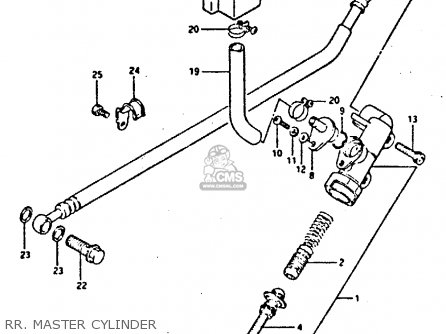 Suzuki Gsxr400 1987 h General Export e01 Rr  Master Cylinder