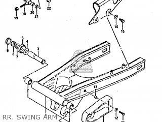 Suzuki Gsxr400 1987 h General Export e01 Rr  Swing Arm