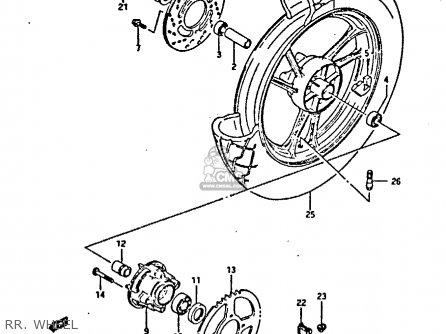 Suzuki Gsxr400 1987 h General Export e01 Rr  Wheel