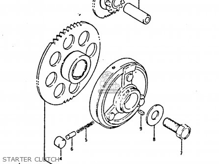 Suzuki Gsxr400 1987 h General Export e01 Starter Clutch