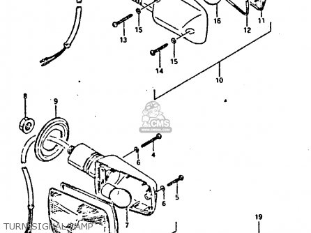 Suzuki Gsxr400 1987 h General Export e01 Turn Signal Lamp