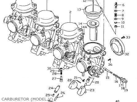Suzuki GSXR600 1999 X CARBURETOR MODEL V