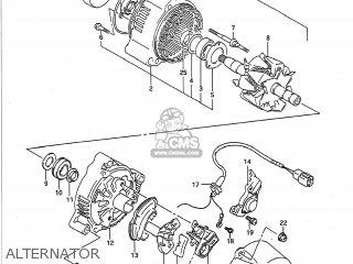 suzuki gsxr750 1992 (n) usa (e03) alternator