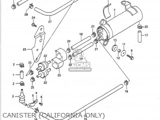 suzuki gsxr750 1992 (n) usa (e03) canister (california only)  canister  (california only)  suzuki gsxr750 1992