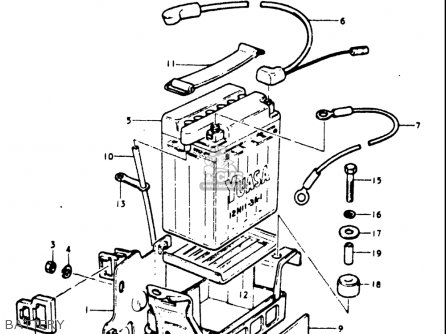 Suzuki Gt185 1973 1974 1975 1976 1977 k l m a b Usa e03 Battery