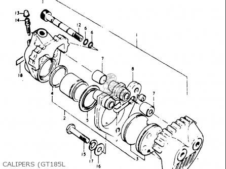 Suzuki Gt185 1973 1974 1975 1976 1977 k l m a b Usa e03 Calipers gt185l