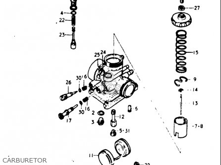 Suzuki Gt185 1973 1974 1975 1976 1977 k l m a b Usa e03 Carburetor