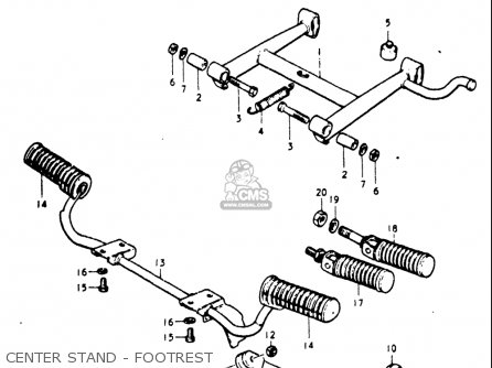 Suzuki Gt185 1973 1974 1975 1976 1977 k l m a b Usa e03 Center Stand - Footrest