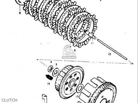 Suzuki Gt185 1973 1974 1975 1976 1977 k l m a b Usa e03 Clutch