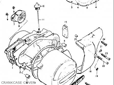 Suzuki Gt185 1973 1974 1975 1976 1977 k l m a b Usa e03 Crankcase Cover