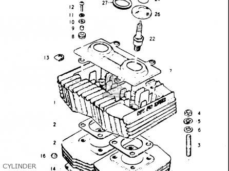 Suzuki Gt185 1973 1974 1975 1976 1977 k l m a b Usa e03 Cylinder
