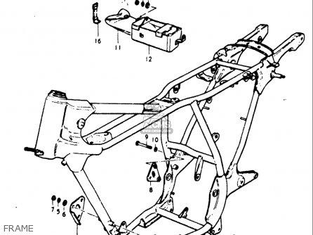 Suzuki Gt185 1973 1974 1975 1976 1977 k l m a b Usa e03 Frame