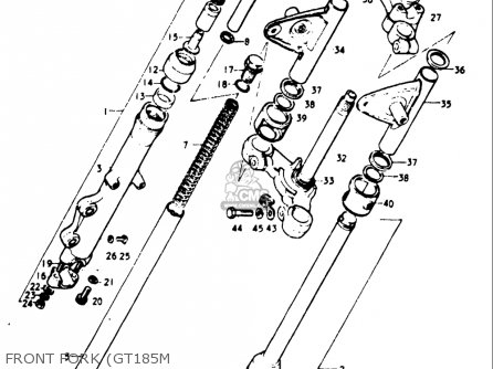 Suzuki Gt185 1973 1974 1975 1976 1977 k l m a b Usa e03 Front Fork gt185m