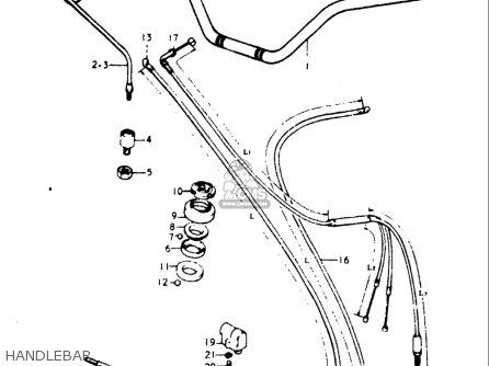 Suzuki Gt185 1973 1974 1975 1976 1977 k l m a b Usa e03 Handlebar
