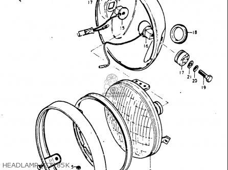 Suzuki Gt185 1973 1974 1975 1976 1977 k l m a b Usa e03 Headlamp gt185k