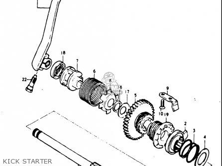 Suzuki Gt185 1973 1974 1975 1976 1977 k l m a b Usa e03 Kick Starter