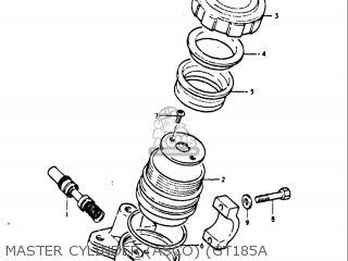 Suzuki Gt185 1973 1974 1975 1976 1977 k l m a b Usa e03 Master Cylinder asco gt185a