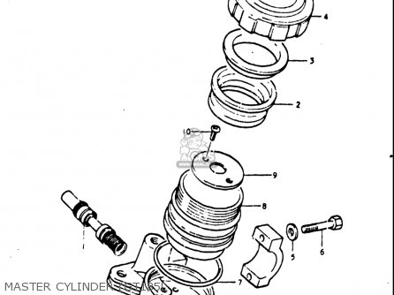 Suzuki Gt185 1973 1974 1975 1976 1977 k l m a b Usa e03 Master Cylinder gt185l