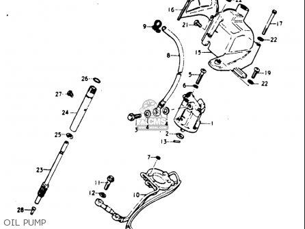 Suzuki Gt185 1973 1974 1975 1976 1977 k l m a b Usa e03 Oil Pump