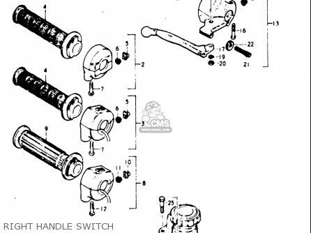 Suzuki Gt185 1973 1974 1975 1976 1977 k l m a b Usa e03 Right Handle Switch