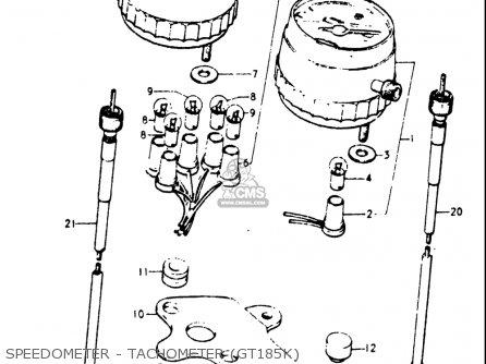 Suzuki Gt185 1973 1974 1975 1976 1977 k l m a b Usa e03 Speedometer - Tachometer gt185k