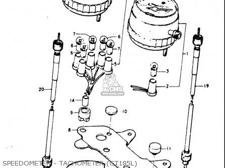 Suzuki Gt185 1973 1974 1975 1976 1977 k l m a b Usa e03 Speedometer - Tachometer gt185l