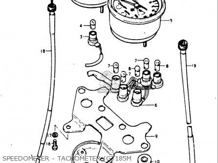 Suzuki Gt185 1973 1974 1975 1976 1977 k l m a b Usa e03 Speedometer - Tachometer gt185m