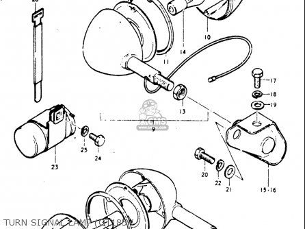 Suzuki Gt185 1973 1974 1975 1976 1977 k l m a b Usa e03 Turn Signal Lamp gt185k