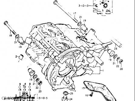 Suzuki Gt185 1973-1977 usa Crankcase