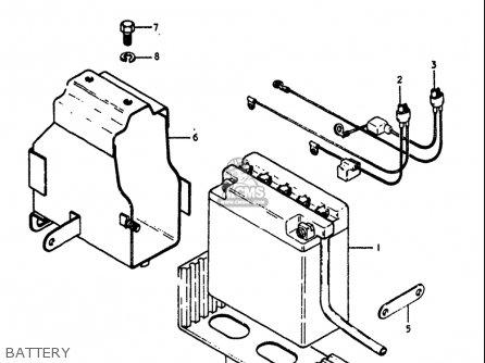 Suzuki Gt250 1973 1974 1975 1976 1977 k l m a b Usa e03 Battery