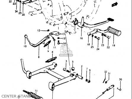 Suzuki Gt250 1973 1974 1975 1976 1977 k l m a b Usa e03 Center Stand