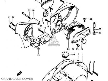 Suzuki Gt250 1973 1974 1975 1976 1977 k l m a b Usa e03 Crankcase Cover