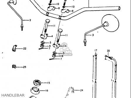 Suzuki Gt250 1973 1974 1975 1976 1977 k l m a b Usa e03 Handlebar