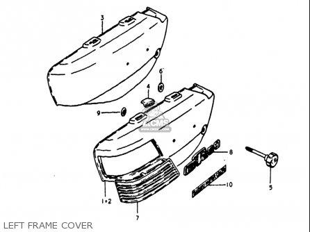 Suzuki Gt250 1973 1974 1975 1976 1977 k l m a b Usa e03 Left Frame Cover