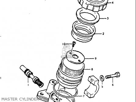 Suzuki Gt250 1973 1974 1975 1976 1977 k l m a b Usa e03 Master Cylinder