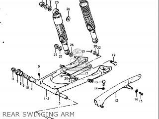 Suzuki Gt250 1973 1974 1975 1976 1977 k l m a b Usa e03 Rear Swinging Arm