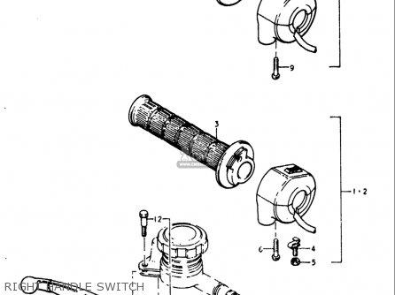 Suzuki Gt250 1973 1974 1975 1976 1977 k l m a b Usa e03 Right Handle Switch