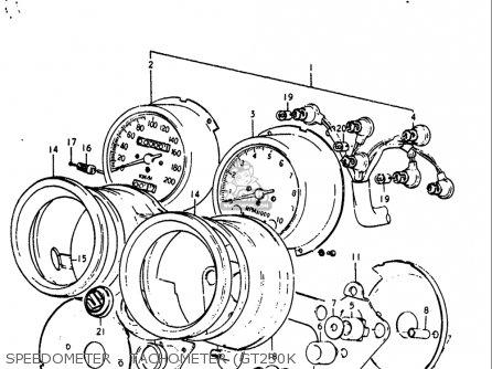 Suzuki Gt250 1973 1974 1975 1976 1977 k l m a b Usa e03 Speedometer - Tachometer gt250k