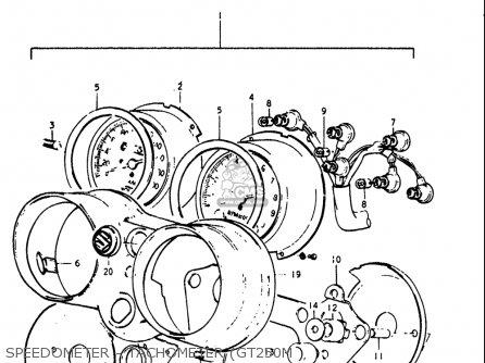 Suzuki Gt250 1973 1974 1975 1976 1977 k l m a b Usa e03 Speedometer - Tachometer gt250m