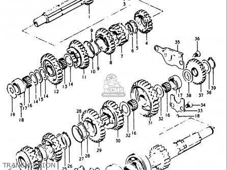 Suzuki Gt250 1973 1974 1975 1976 1977 k l m a b Usa e03 Transmission